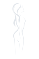 Jednoczęściowy strój kąpielowy z głębokim dekoltem Hollywood (S1077) - Gatta
