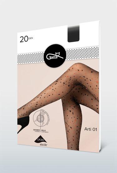 Rajstopy z wzorem imitującym konfetti Arti wz.01 - Gatta