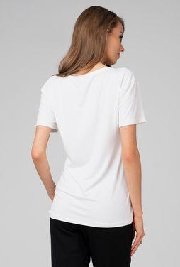 Klasyczny t-shirt z dekoltem v Serano 01 - Gatta