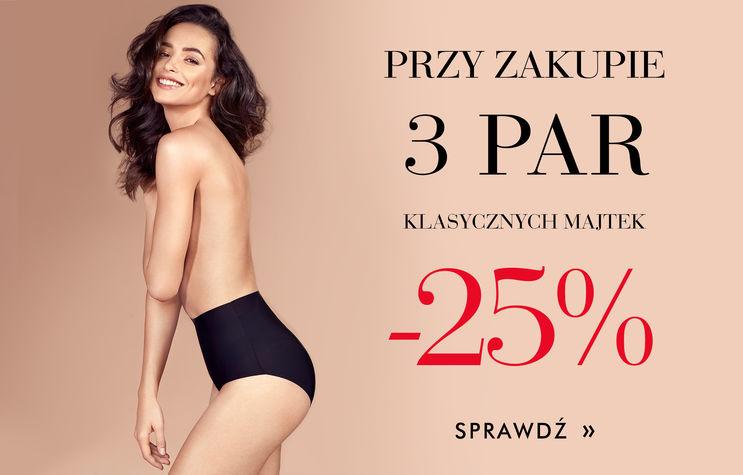 -25% na 3 pary majtek klasycznych!