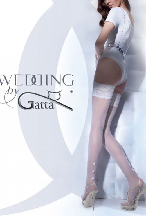 GW BELLADONNA – Stockings with applique for women 01 - Gatta