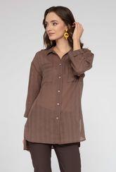 Bawełniana koszula damska zapinana na guziki Tilos - Gatta