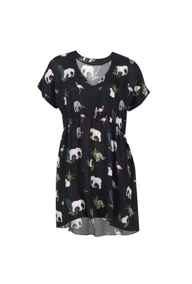 Sukienka w zwierzęcy print Mini Simona - Gatta