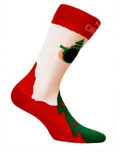 Mikołajowe skarpety świąteczne (6-11lat) KIDS wz. 875 - Gatta