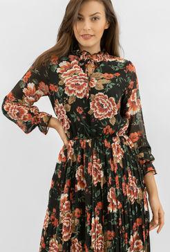 Zwiewna sukienka w kwiaty Ayriss - Gatta