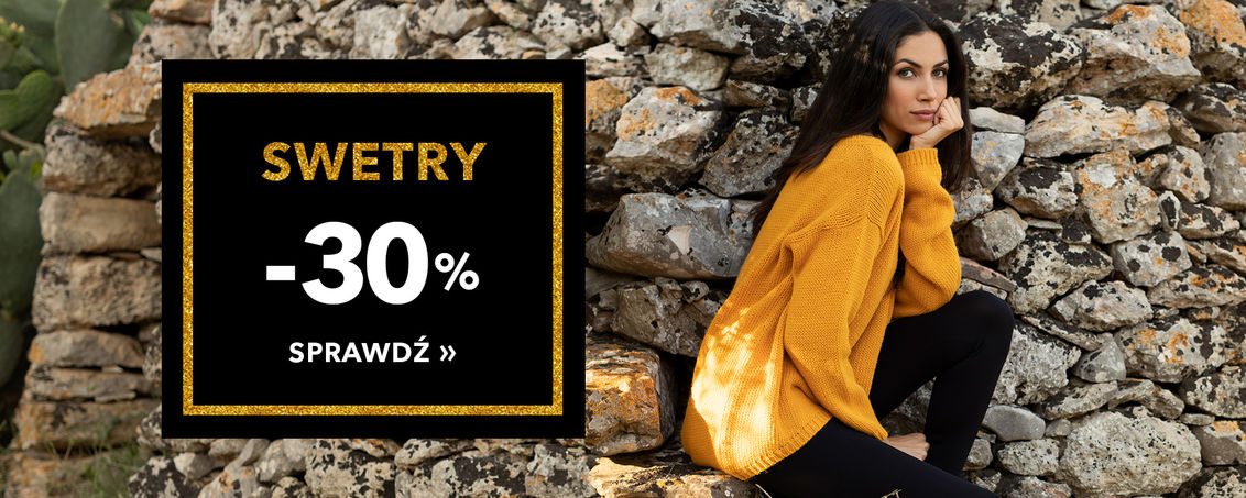 Swetry -30% - BLACK WEEK!
