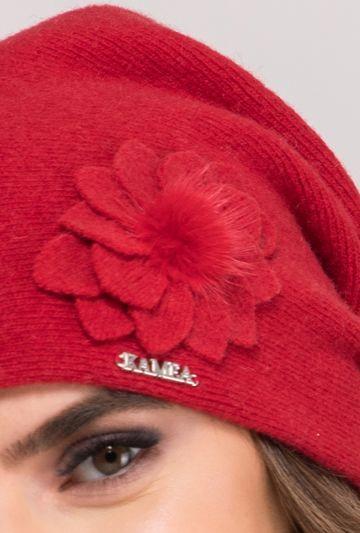Czapka z ozdobnym kwiatem Nora - Gatta