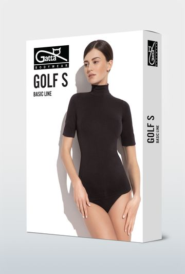 Bezszwowy golf z krótkim rękawem Classic - Gatta