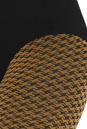Kontrastowe rajstopy w pepitkę Sassi wz. 05 - Gatta