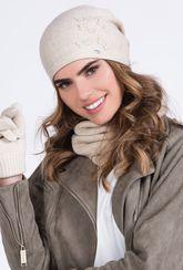 Ciepła czapka z aplikacją Zira - Gatta