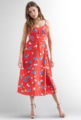 Sukienka na ramiączkach w kwiaty Oliwia 01 - Gatta