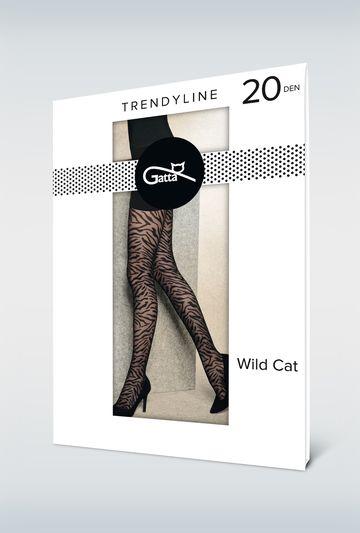 Rajstopy damskie w zebrę WILD CAT 03 - Gatta