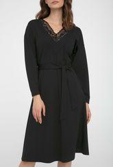 Czarna sukienka z koronką Milo - Gatta