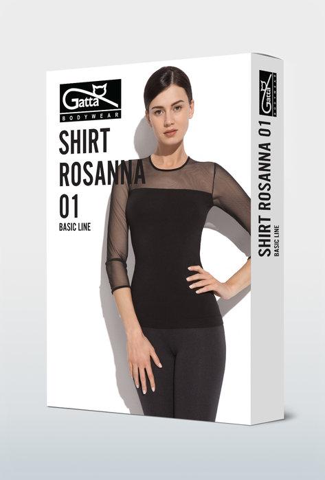 Bluzka z prześwitującymi rękawami Rosanna - 01 - Gatta