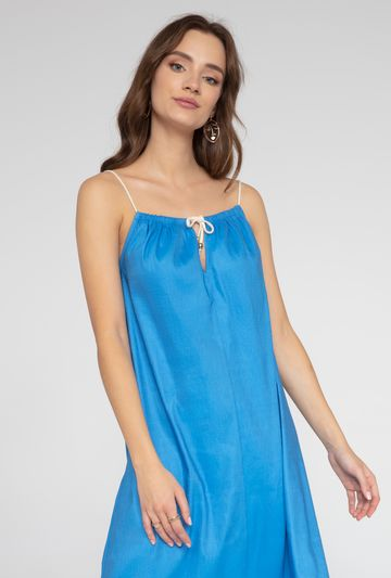 Zwiewna sukienka na cienkich ramiączkach Linosa - Gatta