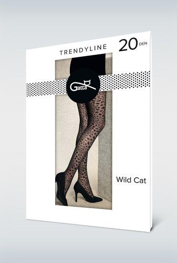 Rajstopy damskie ze zwierzecym printem WILD CAT 02 - Gatta