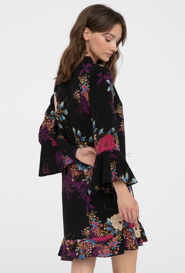 Sukienka z falbanami w kwiaty Molly - Gatta