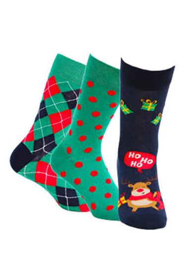 Zestaw skarpet męskich w świąteczne wzory wz. 993 - Gatta