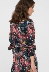 Zwiewna sukienka midi w kwiaty Candance - Gatta