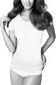 Dopasowana bluzka z wiskozy z krótkim rękawem T-shirt - Gatta