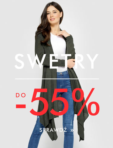 Swetry do -50%!