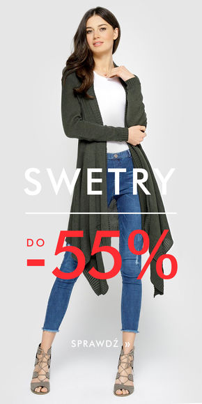Swetry do -55%!
