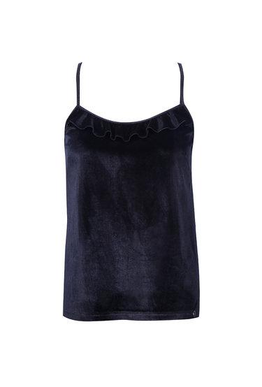 Welurowa koszulka nocna na ramiączkach Frill - Gatta