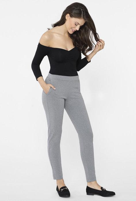 Klasyczne spodnie damskie ze zwężonymi nogawkami Auteria - Gatta