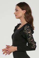 Czarne body z koronką Rachel - Gatta