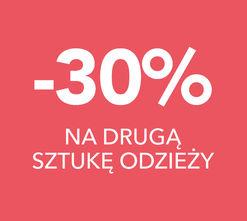 -30% na drugą sztukę odzieży!