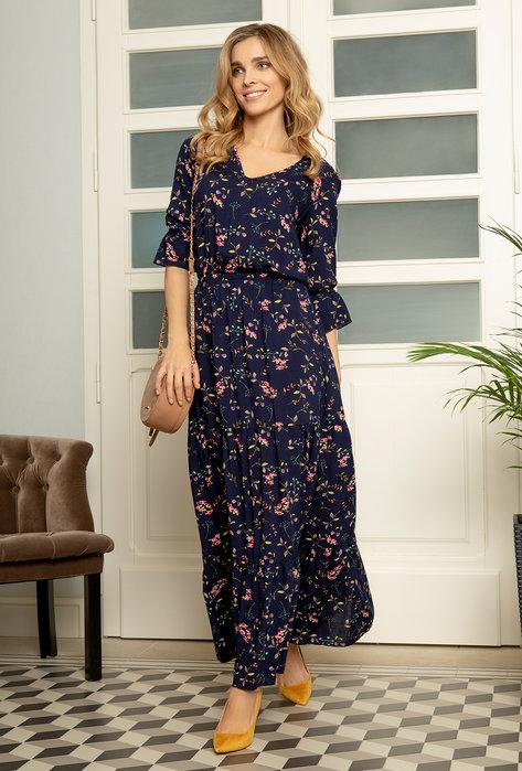 Sukienka w kwiaty Maxi Nela - Gatta