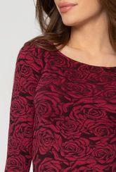 Dopasowane body w różany wzór Lily - Rose - Gatta