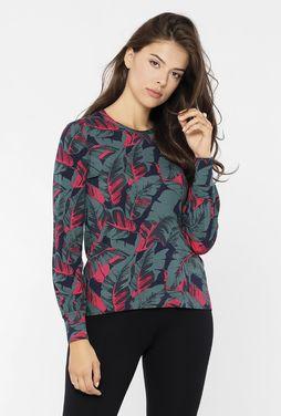 Bluzka w kwiatowy print Wolle - Gatta