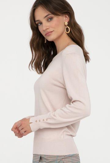 Sweter z guziczkami przy mankietach Silia - Gatta