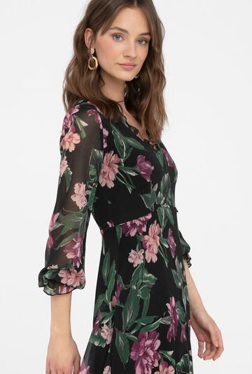 Zwiewna sukienka w kwiaty Varielle - Gatta